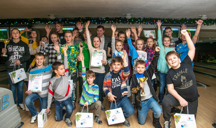 OJSC Severneftegazprom held a bowling tournament among the children of the Company's employees